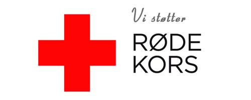 Vi støtter Røde Kors